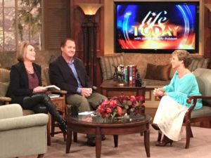 Dr. Michelle Bengtson with Sheila Walsh and Randy Robison on Life Today TV