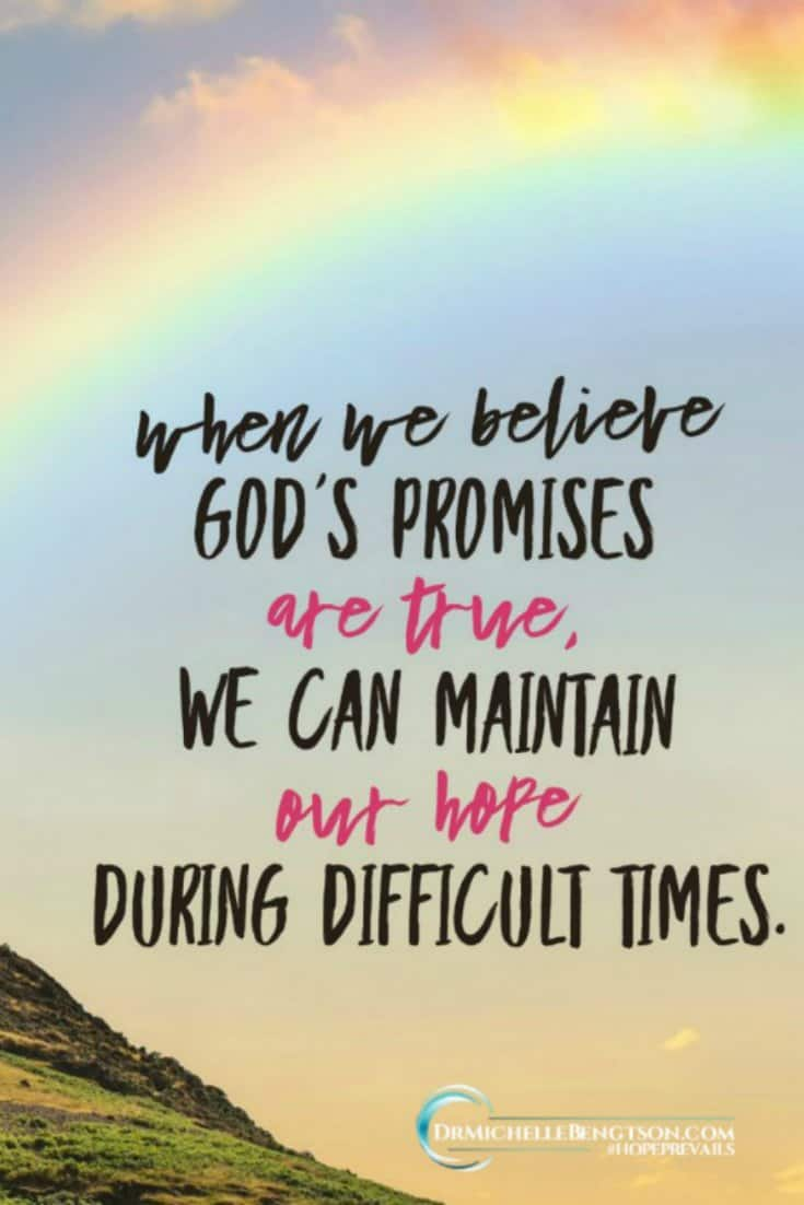 When we believe God's truth, despite our circumstances, we can rest in His promises - He has good plans for us filled with hope and a future.