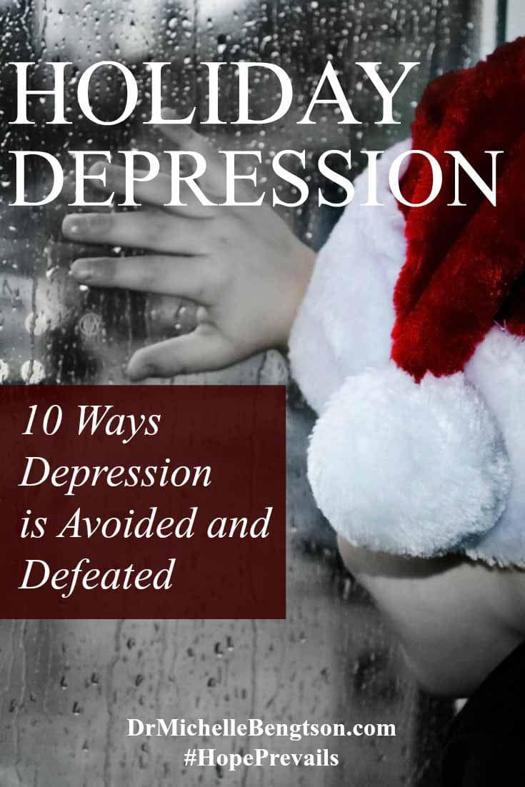 For many, the Christimas holiday is the most difficult time of the year to live through. A cloud of darkness hovers over many lives. Depression. Read more for 10 ways depression is avoided and defeated.