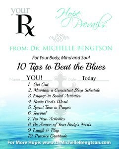 Script Reminder of 10 Tips to Beat the Blues