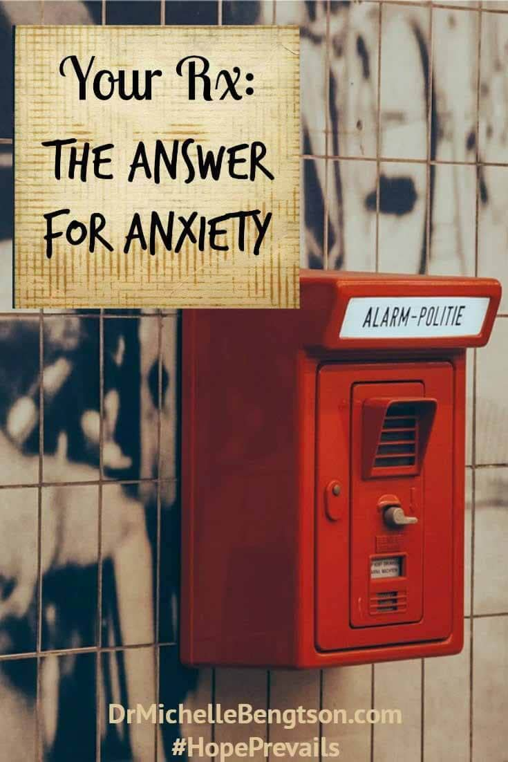 I didn't recognize it for what it was until I was weighted down under the cascade—the waterfall of anxiety. Anxiety often starts small and hardly noticable & over time grows to troublesome proportions. What is the answer to our anxiety?