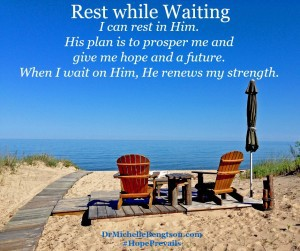 Rest While Waiting from In Times of Waiting by Dr. Michelle Bengtson