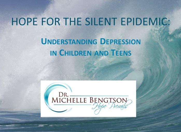 Hope for the Silent Epidemic Understanding Depression Children Teens