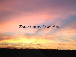 Rest is crucial for warfare