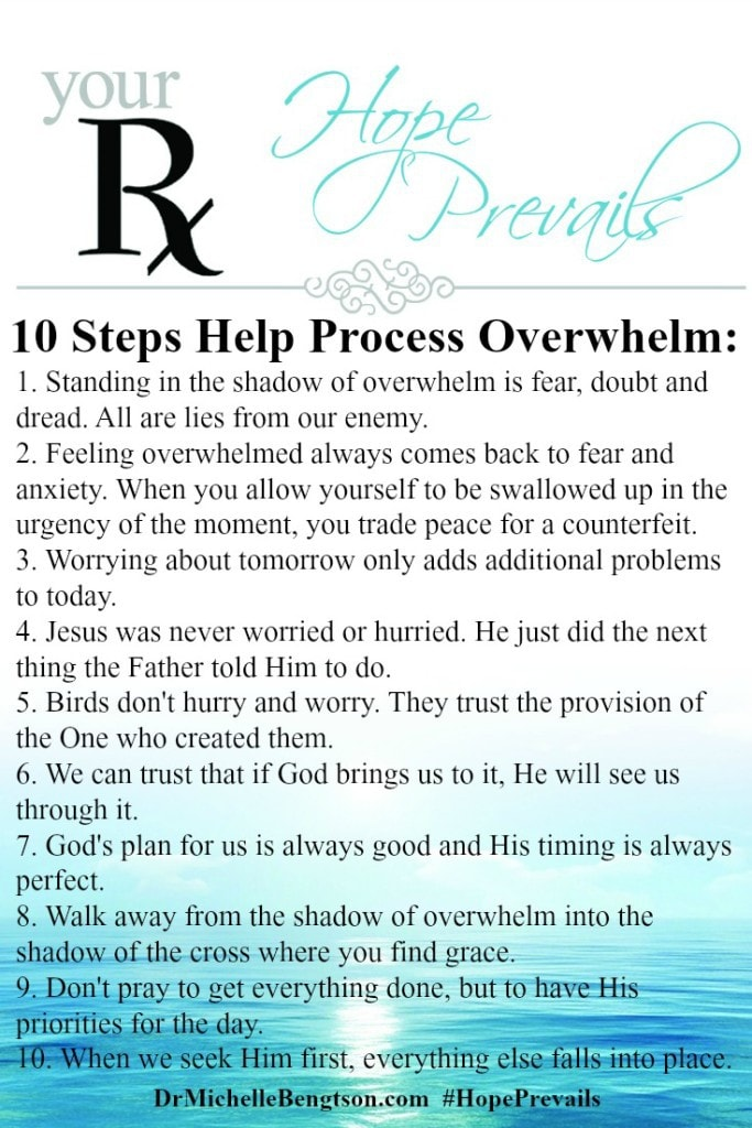 The Antidote for Overwhelm - 10 Steps Help Process Overwhelm