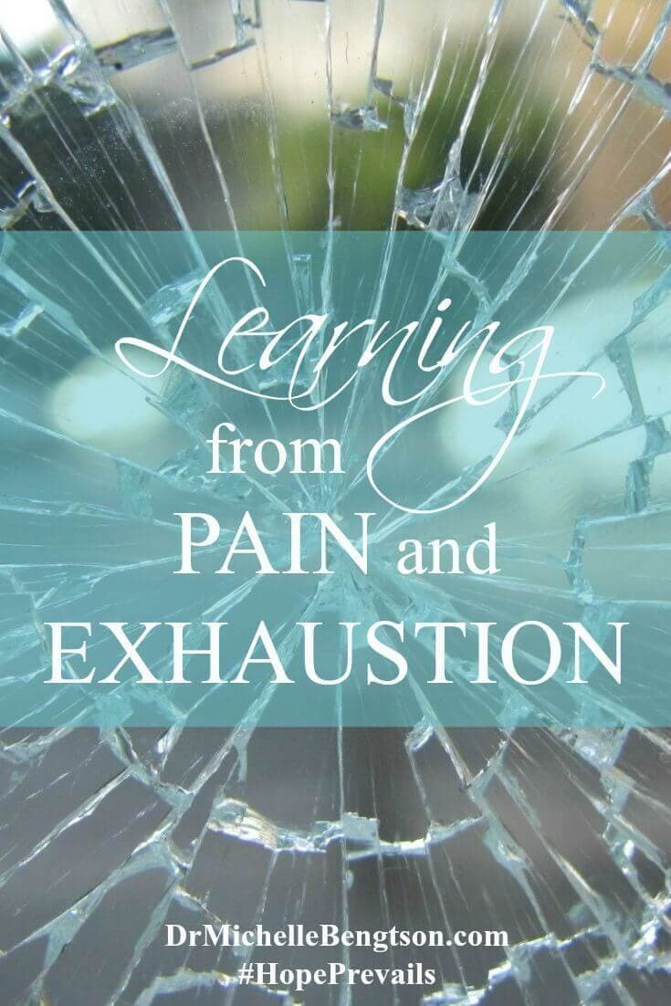 Pain is a signal. If we don't listen to our body's gentle cues, it will scream to be heard! And, not when it's convenient. Do you feel overwhelmed? Is your to-do list scaling higher and higher leaving you feeling weary? Dr. Bengtson shares what she has learned first hand from pain and exhaustion.