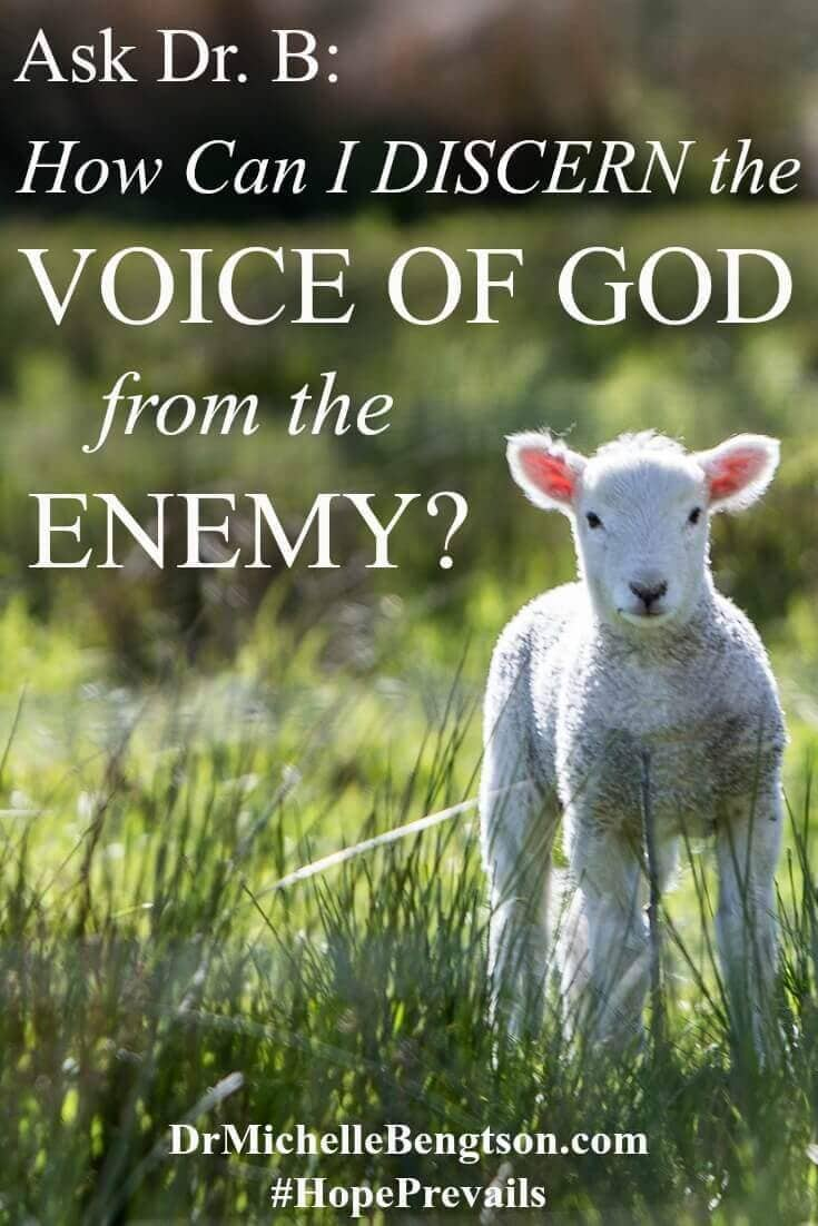 How can I know the difference between God's voice, my voice and the enemy's voice? Many Christ-followers have asked this question at some point in their journey! The enemy would like you to believe that you can't hear God's voice, but the truth is God is speaking all the time—we just have to learn to become more attuned to hearing His voice and discerning the difference between His voice and the enemy's voice.