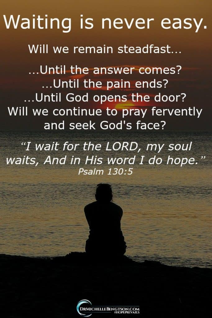 Have you ever been in a waiting season with God? Where you pray, yet the answer doesn't seem to come? You cry out for relief, but the pain continues without end? You ask God to open a door and make a way, yet all you see are dead ends? The waiting is never easy. #HopePrevails #Christianity #inspiration