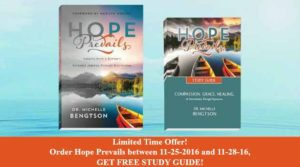 2016 Black Friday to Cyber Monday Special - Free Study Guide with Purchase of Hope Prevails!