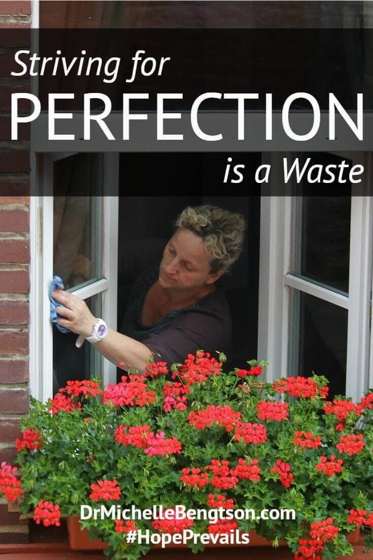 "Are you striving for perfection? Is the enemy whispering lies in your ear? ""You aren't good enough if you aren't perfect."" ""Others will reject you or abandon you if you don't do things 'right.'"" ""You'll let God down if you mess up."" That's just it. Perfection is a lie. Striving for perfection is a waste of time. What does God expect from you? Christian Inspiration."