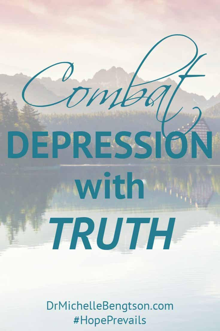 "In my darkest days of depression, God gave me truths to combat the lies the enemy had been whispering into my heart. I had believed lies from the enemy that put me into the valley of despair to begin with. In ""Hope Prevails: Insights From a Doctor's Personal Journey Through Depression"" I share the truths God revealed to me. I now stand on those truths to keep me from going back into that pit."