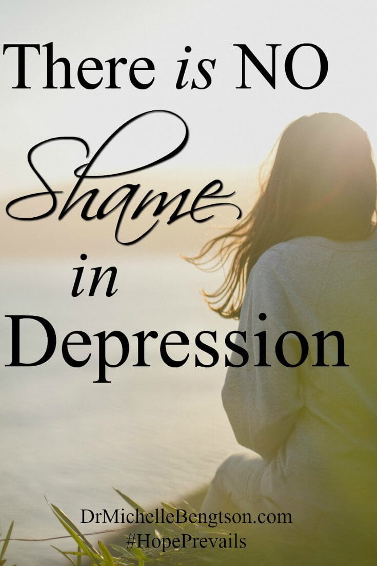 When people are going through dark days, they often feel shame. If there's one thing I've learned through my journey, it's that there is no shame in going through depression. There's no shame in heart disease or diabetes or allergies. If you're going through dark days, you don't have to stay there. There is hope.