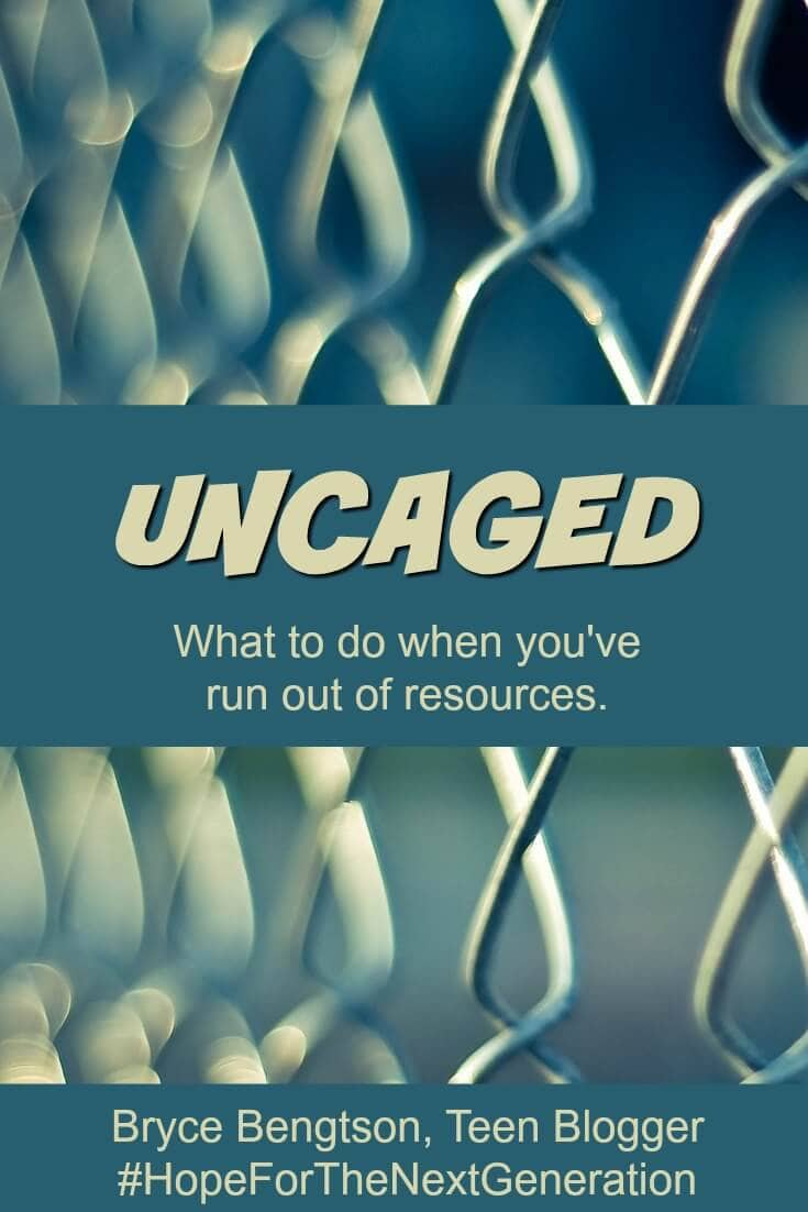 What do you do when you have run out of resources? No matter what you do you cannot get out... by ourselves. How do you become uncaged?