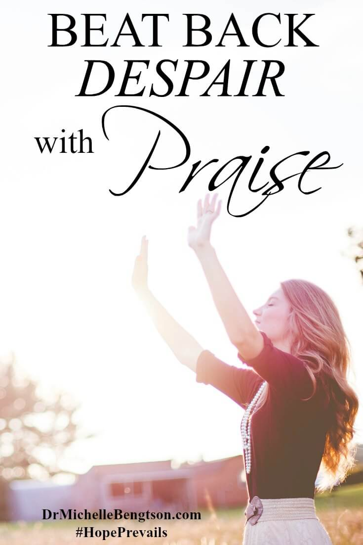 How do you count it all joy when you're dealing with despair, doubt and self-pity? Find out how I used a sacrifice of praise to combat the lies of the enemy in a time of depression and despair.