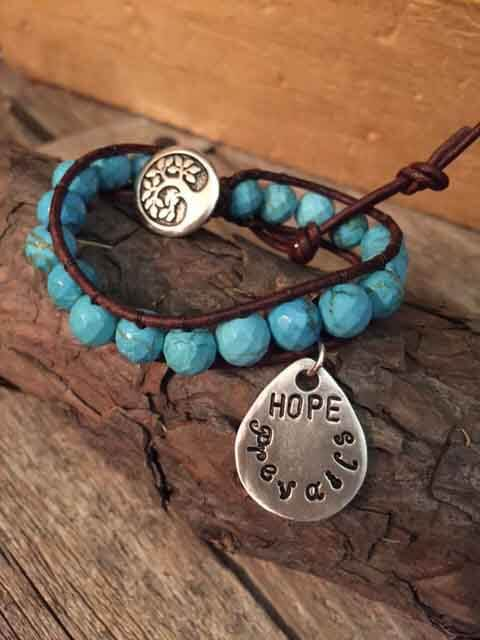 leather-beaded-bracelet-with-teardrop-hope-prevails-charm-brown-leather-turquoise-beads