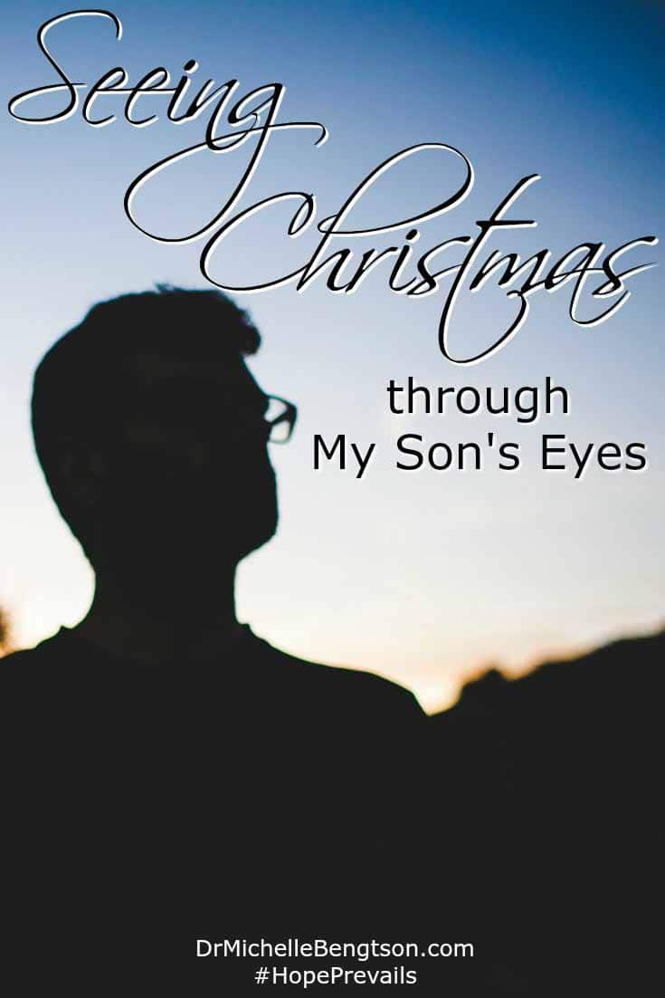 My oldest son loves Christmas. He enjoys everything about it—not just the receiving of gifts. As I see Christmas through my son's eyes, it reminds me to keep the most important things important. To love God and share His love.