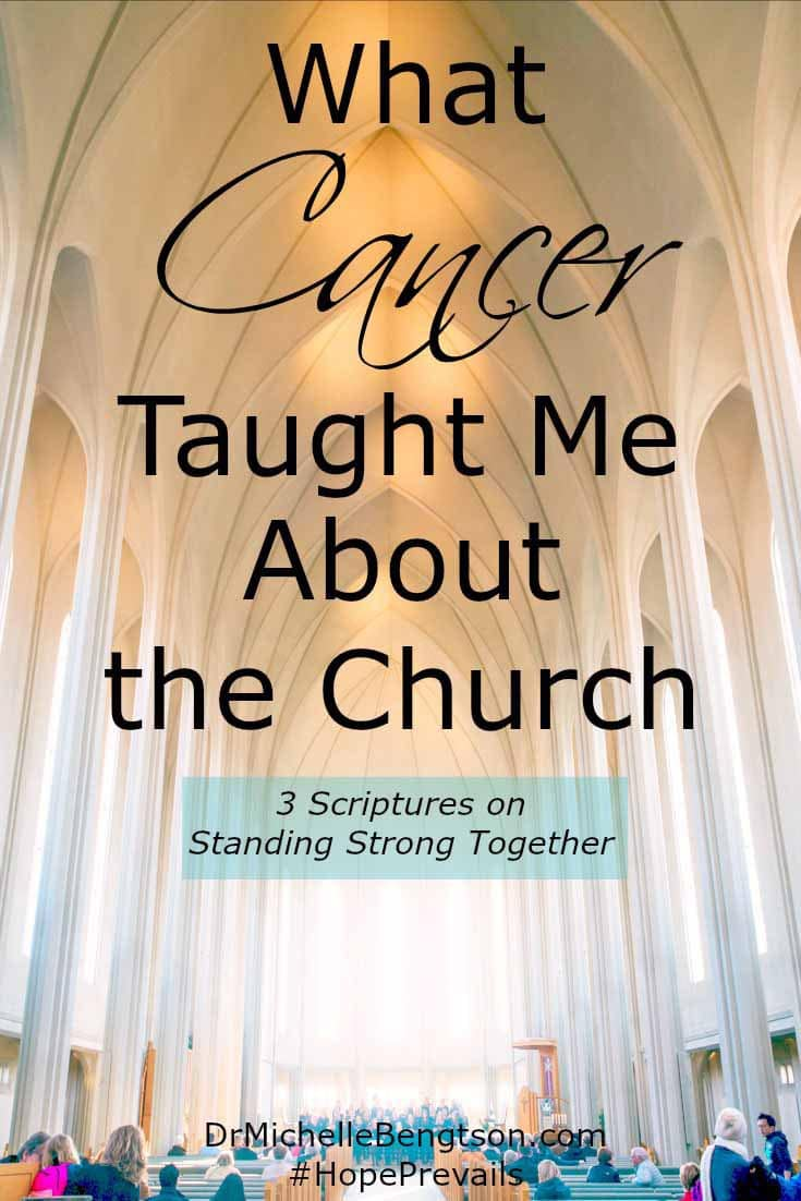 As we battle cancer, we are linking arms with the church, waging war against the enemy, showing him we are standing strong together. Read more for 3 scriptures on standing strong together.