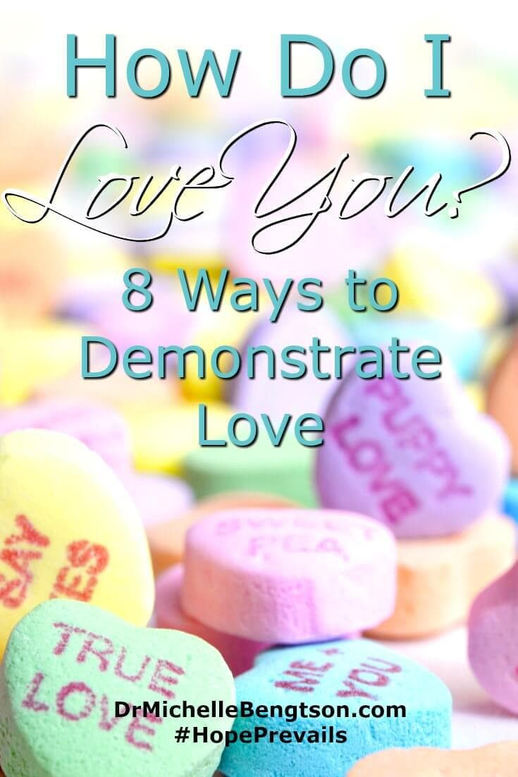 We have opportunity to share love with our words. Our actions back up those sentiments. Explore other ways to express love besides declaring it verbally. Try these 8 ways to demonstrate love.