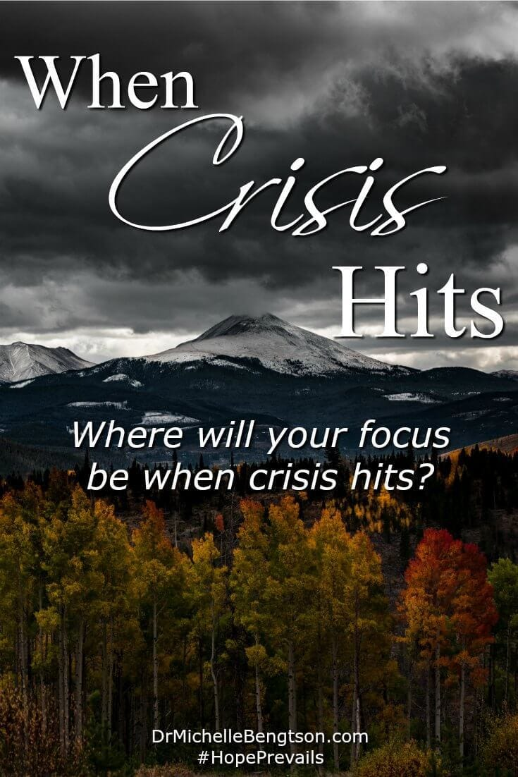 Are you going through a difficult time? When crisis hits, where will you focus? Will you live in defeat or focus on the enormity of our God?