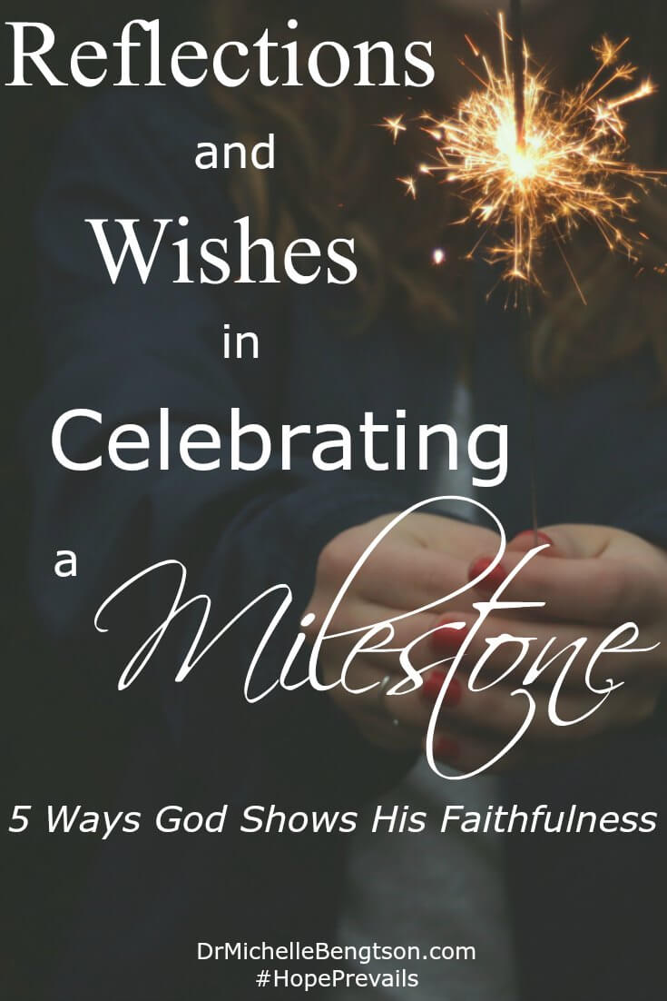 There's something about milestone birthdays that prompt reflection. Do you feel that way? As I've thought about my walk through the valley this past year, I'm reflecting on 5 ways God has shown His faithfulness and wishes for this next year.