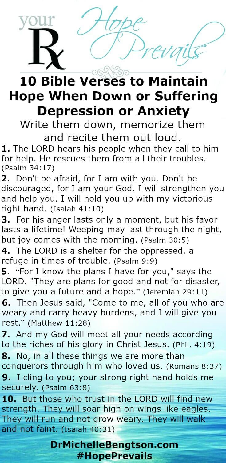 Bible Quotes About Hope 10 Verses Of Hope For When You Are Down Or Depressed  Dr