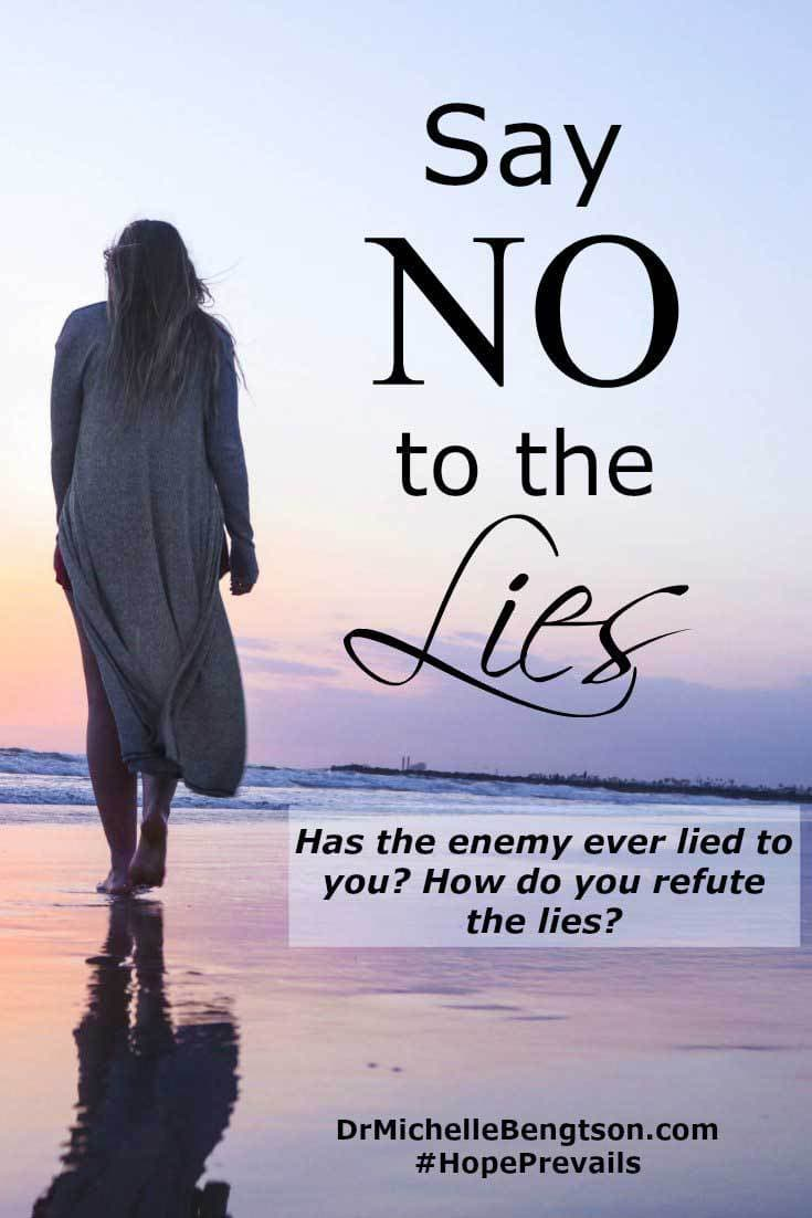 The enemy lies to us to convince us we need to be perfect to receive the love and acceptance of God and others. The truth is we're not perfect and will never be. God knew that and made a way for us. So, how do you say no to the lies?
