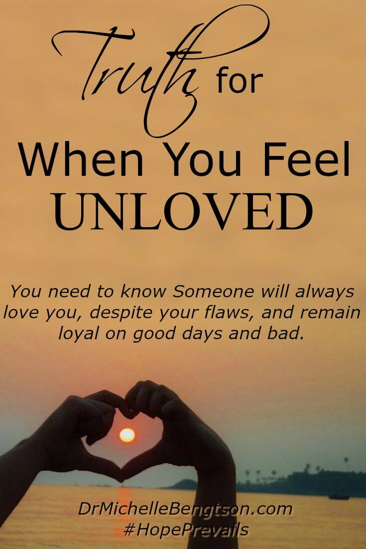 Have the words of another ever wounded you and made you feel unloved and unwanted? Or, rejected and alone? The truth is there's Someone who will always love you. Find out more here.