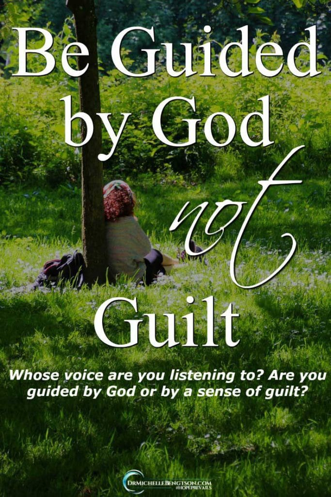 Are you guided by God or by a sense of guilt? Guilt comes from the enemy of your soul, not come from your Heavenly Father. Whose voice are you listening to? #ChristianInspiration
