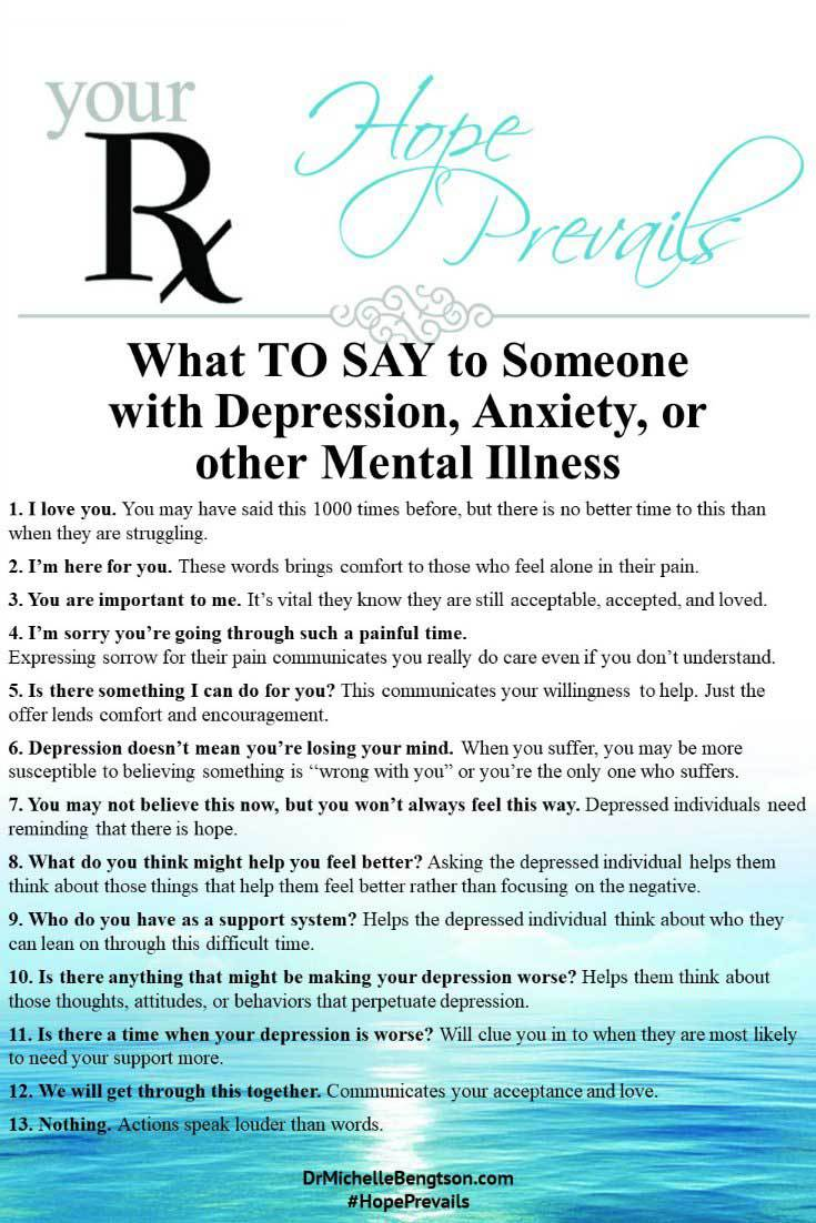 dating someone with severe depression and anxiety Dating can be a challenge when you suffer from depression that said, meeting a new person can also be a source of joy 10 tips for dating with depression.