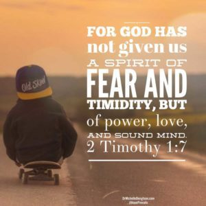 For God has not given us a spirit of fear and timidity, but of power, love and sound mind. 2 Timothy 1:7 #Bibleverse
