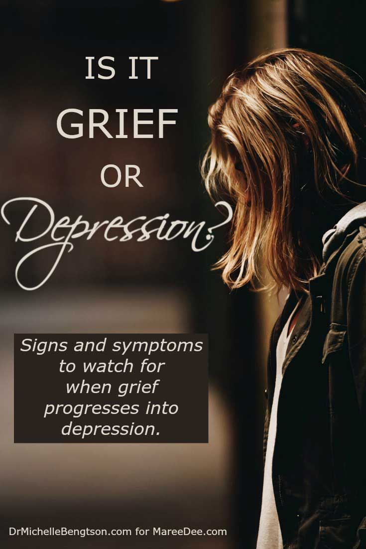 grief is not depression Grief and depression have similar symptoms, but they are two totally distinct health events understanding the differences and similarities is crucial in getting the treatment you need seeking treatment for depression can literally save your life, and learning how to cope with natural grieving can help you heal.