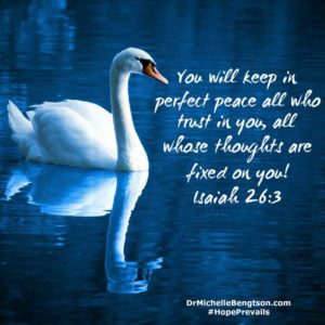 You will keep in perfect peace all who trust in You, all whose thoughts are fixed on You! Isaiah 26:3 #Bibleverse