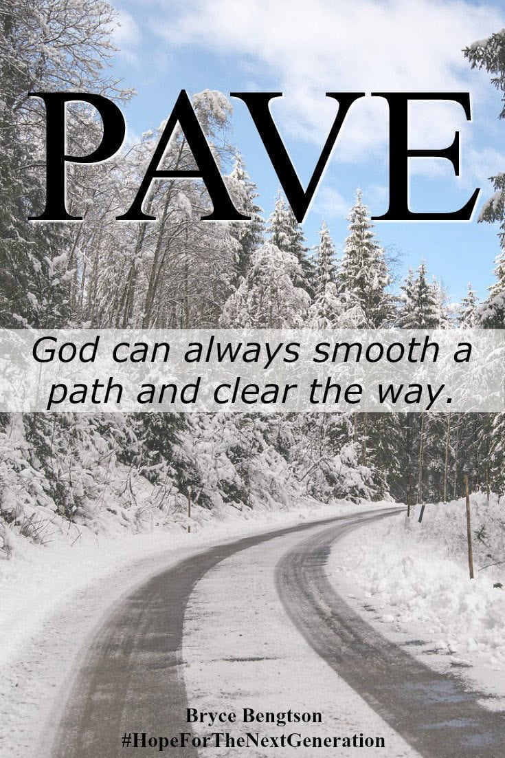 Keep on track with God! Just like a snowplow on a road in winter, God can clear a path for you. He can show us the way and make it smooth. #ChristianInspiration #Hope