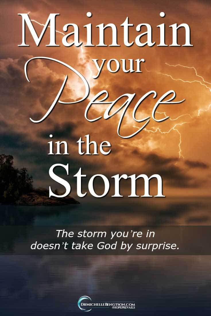 Have you ever been surprised and stranded by a sudden change in weather? Sometimes, the battle to get to your destination can be fierce. How was Jesus able to sleep through a sudden storm? #ChristianInspiration #peace