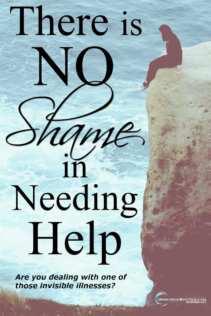 If you are dealing with one of those invisible illnesses that are harder to see than a broken arm or a broken leg, but equally as valid, there is no shame in saying you need help. #nostigma #mentalhealth