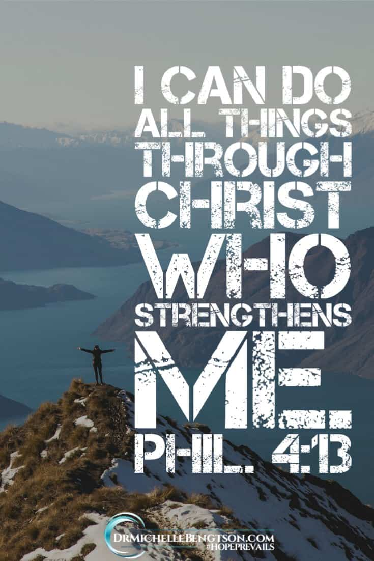 """The enemy doesn't want me moving forward in my destiny, but Scripture says, """"I can do all things through Christ who strengthens me."""" God wants us to take the next step. When we do, He'll give us strength for the next one. #JesusChrist #faith #trust"""