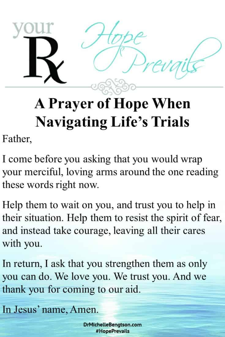 A prayer to put our trust in God when we are navigating life's trials. #prayer #faith #Christianity