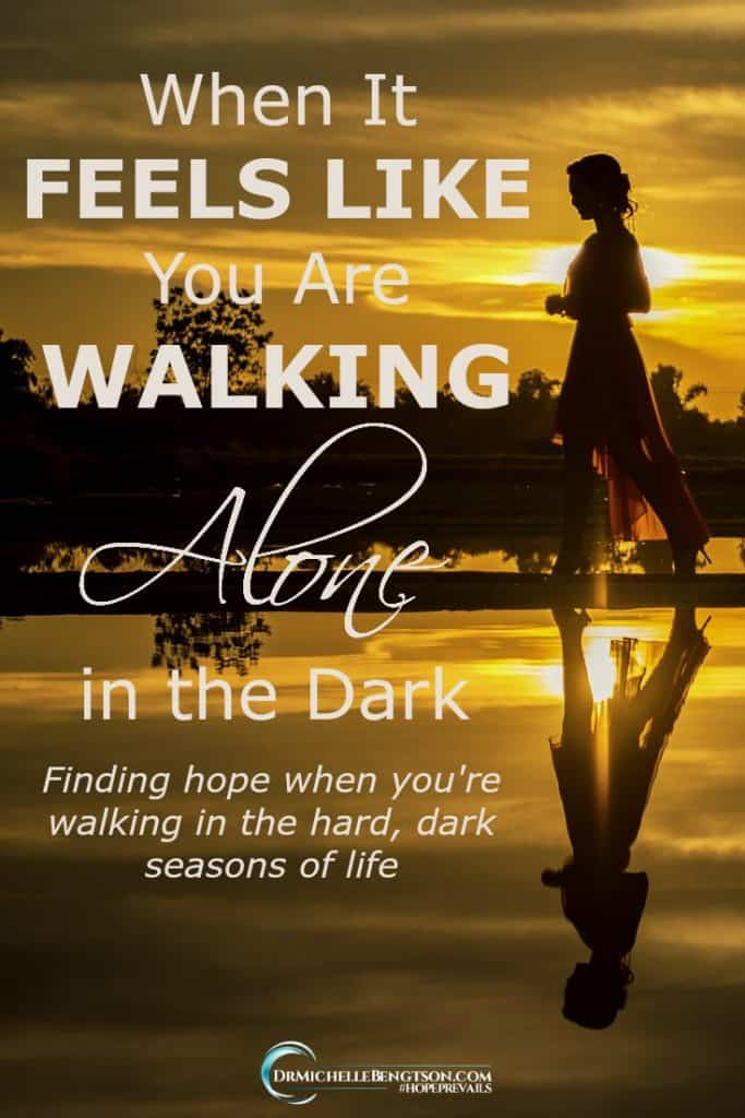 Do you ever experience those times when you need a reminder that God sees you? It can sometimes feel like we're walking alone in the dark. #HopePrevails #hope #Christianity