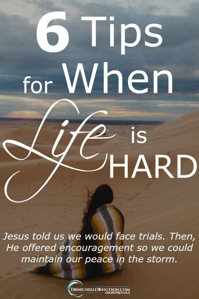 Jesus told us we would face trials. Then, He offered encouragement so we could maintain our peace in the storm. #BibleVerses #Christianity #hope