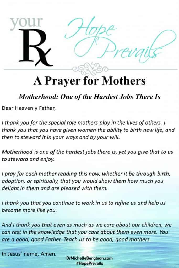 A prayer you and the special role you play as a mom! #mothers #MothersDay #prayer