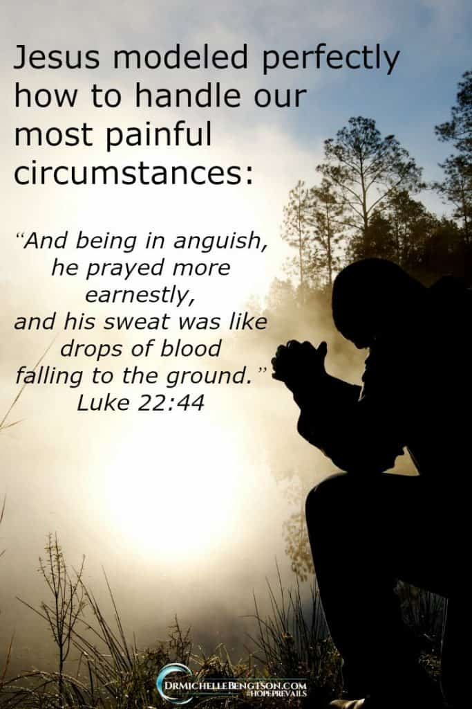 Jesus modeled perfectly how to handle our most painful circumstances. #BibleVerse #Jesus #faith