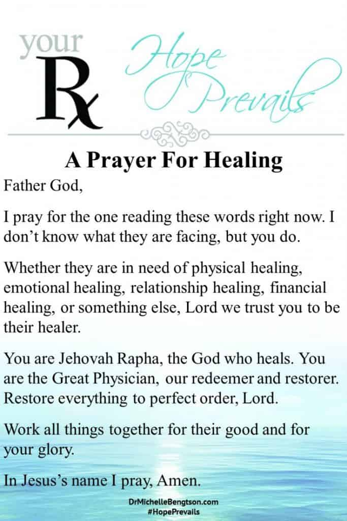 A prayer for physical, emotional, relationship, and financial healing. #prayer #hope #Christianity