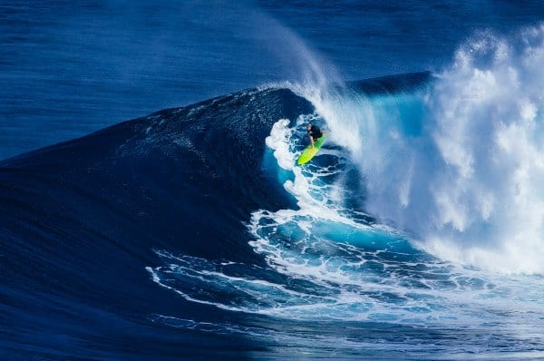 experienced surfer riding a wave