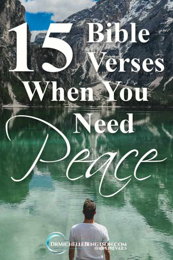 When you need peace, focus on God's Word. #BibleVerses #Christianity #Christian #Peace