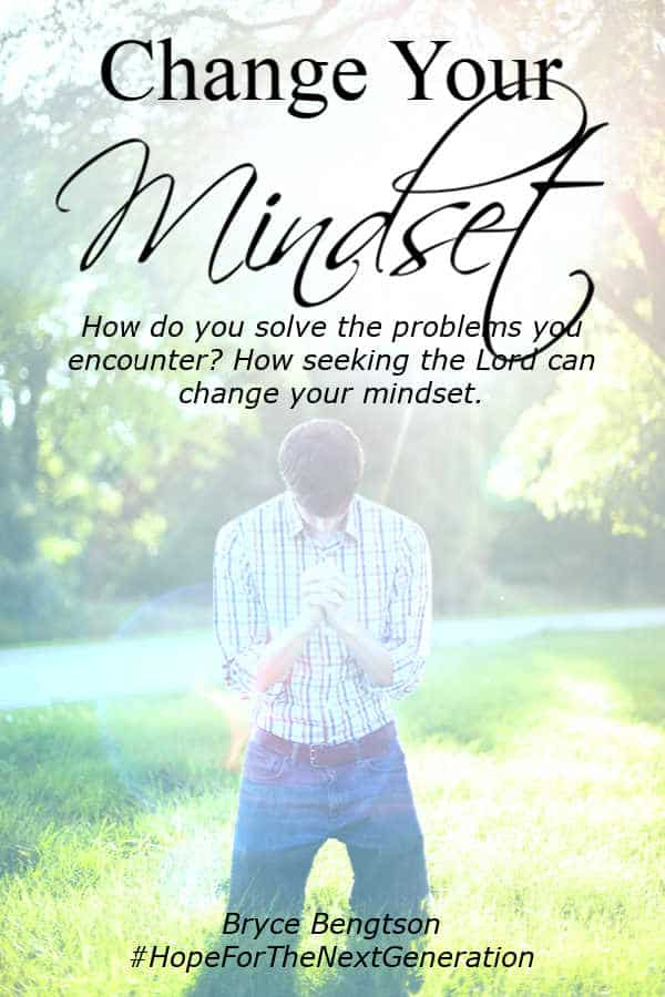 How do you solve the problems you encounter? When you seek God, He can change your mindset. Just ask. #Christian #Christianity #hope