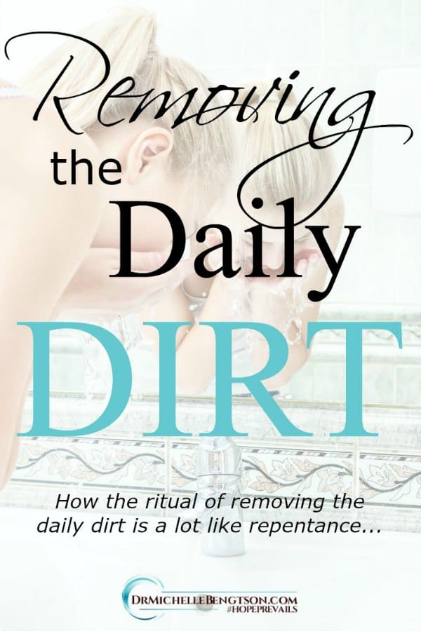 The ritual of removing the daily dirt is a lot like repentance. #faith #prayer