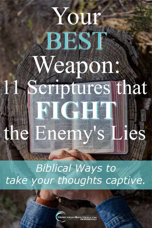 Learn God's word. Get it down deep inside you and use it as a weapon against the enemy. #SpiritualWarfare #BibleVerses #Christian