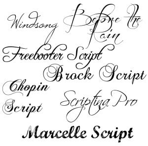 Fancy Fonts All