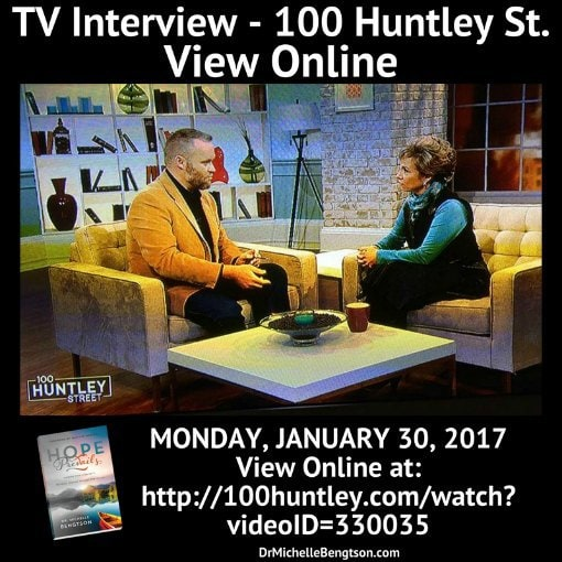 TV Interview on 100 Huntley Street in Canada