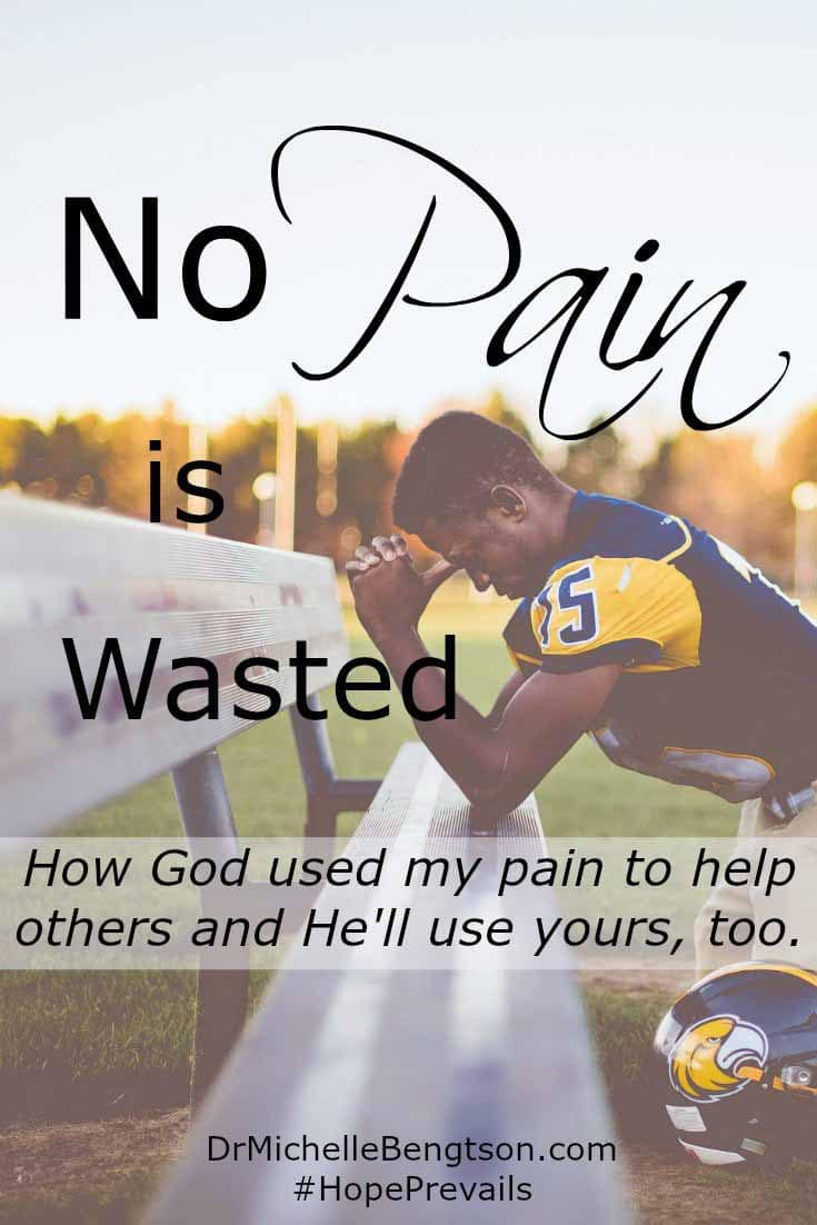 When you tell someone you'll pray for them, do you? Do you forget? In the midst of a painful experience, many said they were praying for me, but were they really? God used my pain to help others and He'll use yours, too.